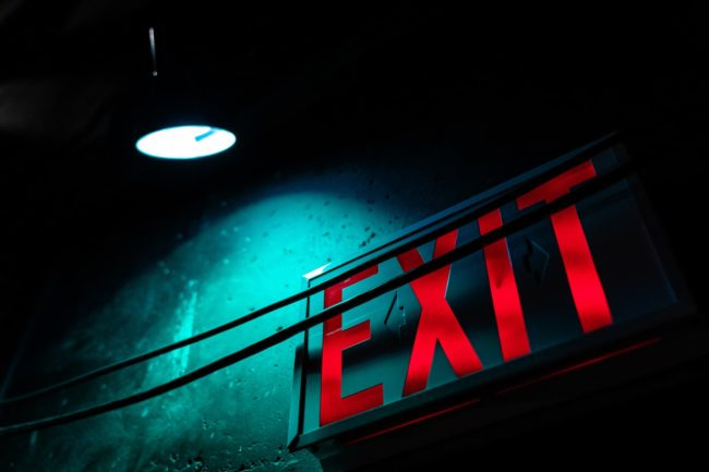 EXIT, Ausstieg